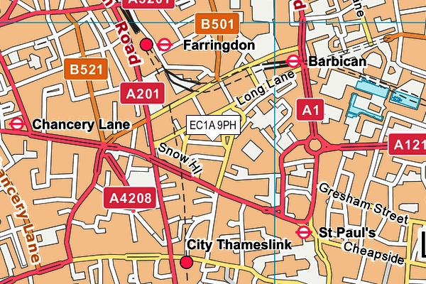 EC1A 9PH map - OS VectorMap District (Ordnance Survey)