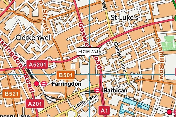 Italia Conti Academy of Theatre Arts map (EC1M 7AJ) - OS VectorMap District (Ordnance Survey)