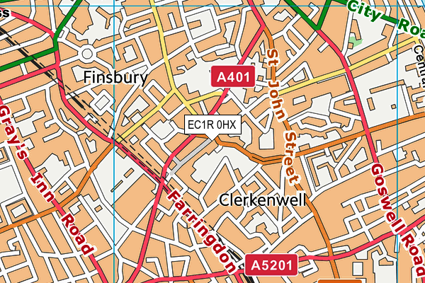 EC1R 0HX map - OS VectorMap District (Ordnance Survey)