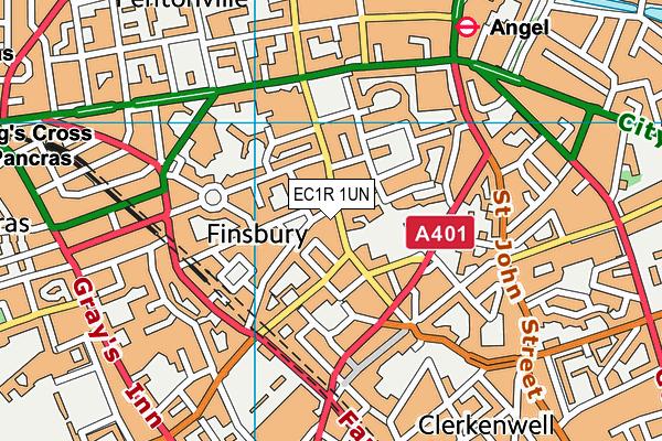 Clerkenwell Parochial CofE Primary School map (EC1R 1UN) - OS VectorMap District (Ordnance Survey)