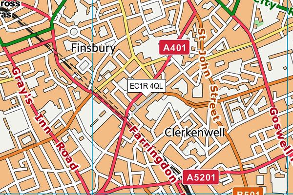 EC1R 4QL map - OS VectorMap District (Ordnance Survey)