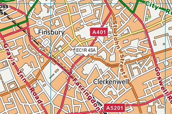 EC1R 4SA map - OS VectorMap District (Ordnance Survey)