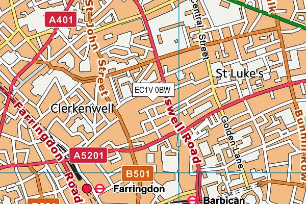 Dallington School map (EC1V 0BW) - OS VectorMap District (Ordnance Survey)