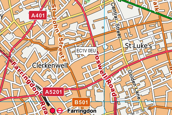 St Peter and St Paul RC Primary School map (EC1V 0EU) - OS VectorMap District (Ordnance Survey)