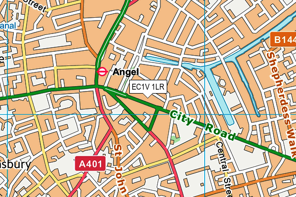 Fitness First (London Angel) map (EC1V 1LR) - OS VectorMap District (Ordnance Survey)