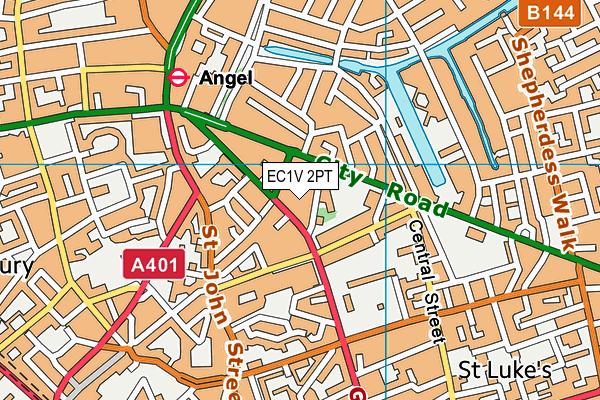 EC1V 2PT map - OS VectorMap District (Ordnance Survey)