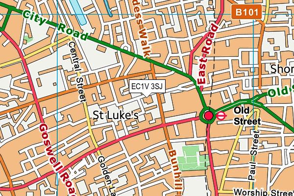 St Luke's CofE Primary School map (EC1V 3SJ) - OS VectorMap District (Ordnance Survey)