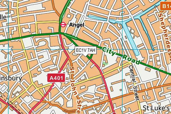 The Gym (London Angel) map (EC1V 7AH) - OS VectorMap District (Ordnance Survey)