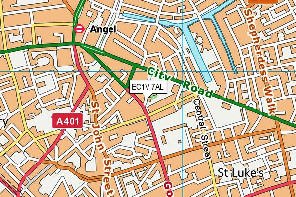 EC1V 7AL map - OS VectorMap District (Ordnance Survey)