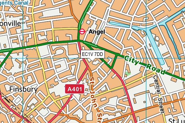 City And Islington College (Centre Of Applied Sciences) map (EC1V 7DD) - OS VectorMap District (Ordnance Survey)