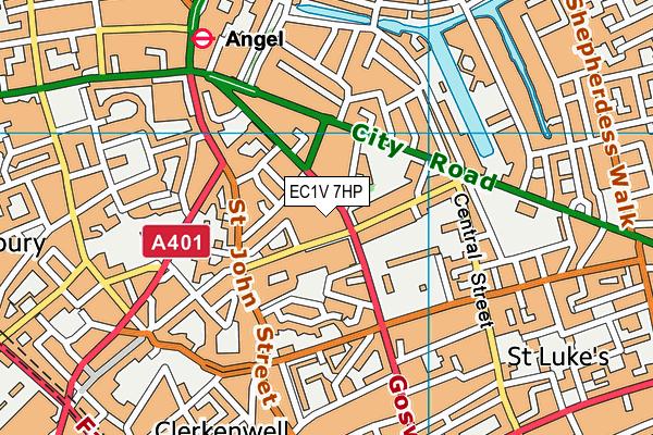 EC1V 7HP map - OS VectorMap District (Ordnance Survey)