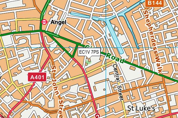 EC1V 7PS map - OS VectorMap District (Ordnance Survey)