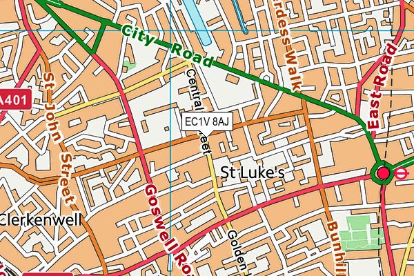 St Lukes Community Centre map (EC1V 8AJ) - OS VectorMap District (Ordnance Survey)