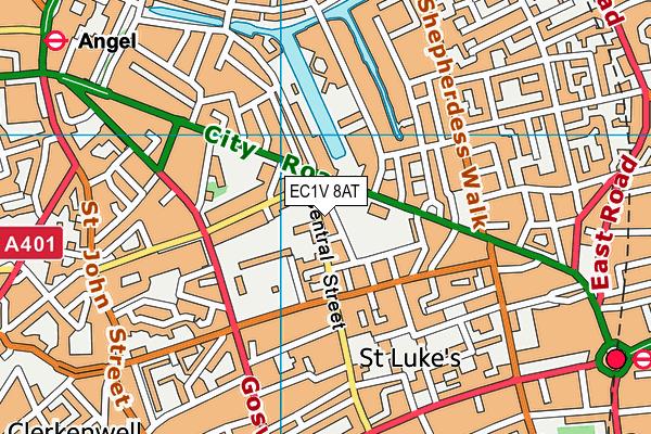 EC1V 8AT map - OS VectorMap District (Ordnance Survey)