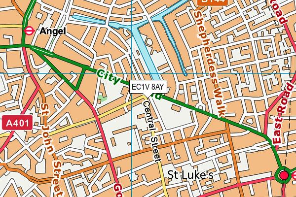 EC1V 8AY map - OS VectorMap District (Ordnance Survey)