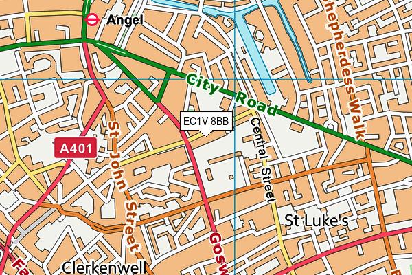 City of London Primary Academy, Islington map (EC1V 8BB) - OS VectorMap District (Ordnance Survey)