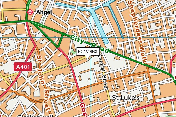 EC1V 8BX map - OS VectorMap District (Ordnance Survey)