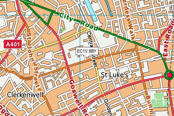 EC1V 8BY map - OS VectorMap District (Ordnance Survey)