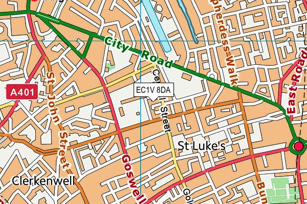 EC1V 8DA map - OS VectorMap District (Ordnance Survey)