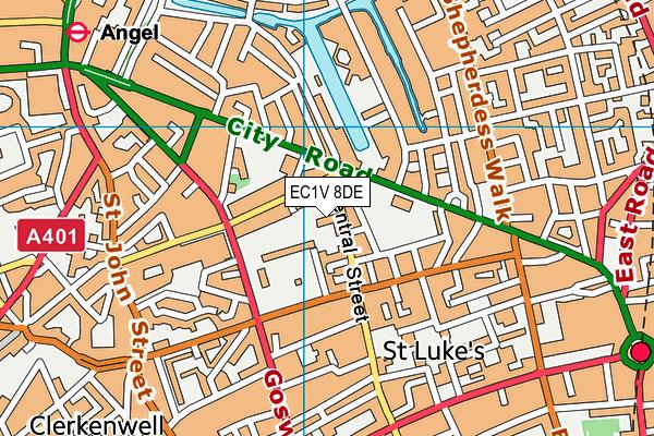 EC1V 8DE map - OS VectorMap District (Ordnance Survey)
