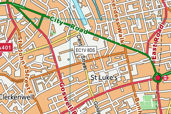 EC1V 8DS map - OS VectorMap District (Ordnance Survey)