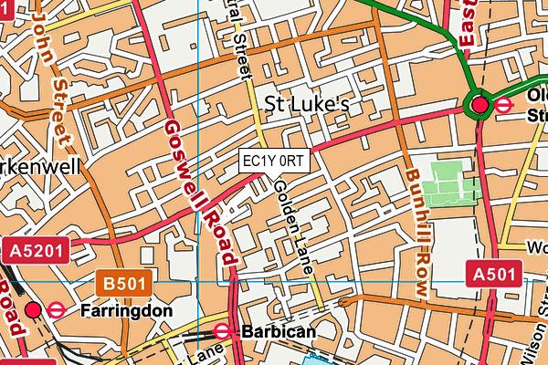 Royal Mencap Society map (EC1Y 0RT) - OS VectorMap District (Ordnance Survey)