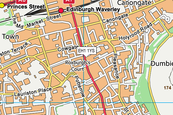 Map of BLACKWELL (SCOTLAND) LIMITED at district scale