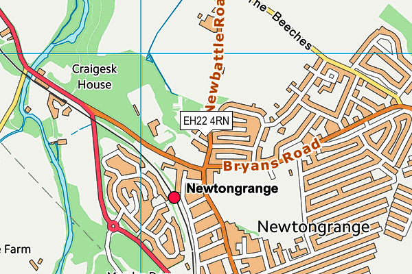 Map of MEADOWFIELD GARAGE LTD at district scale