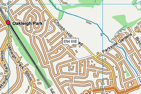 Church Farm Leisure Centre map (EN4 8XE) - OS VectorMap District (Ordnance Survey)