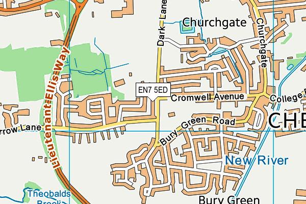 Bonneygrove Primary School map (EN7 5ED) - OS VectorMap District (Ordnance Survey)