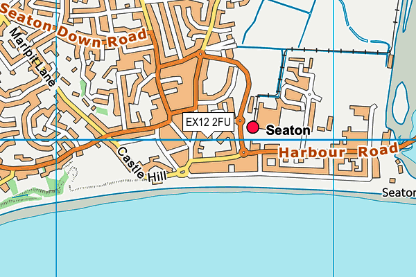 Seaton Fitness Centre map (EX12 2FU) - OS VectorMap District (Ordnance Survey)