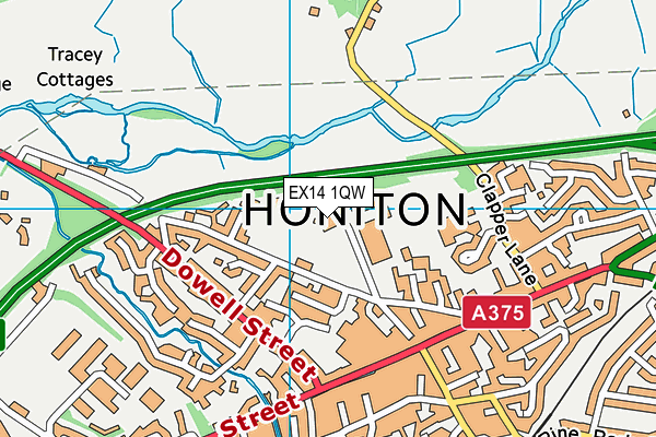 Honiton Leisure Centre map (EX14 1QW) - OS VectorMap District (Ordnance Survey)