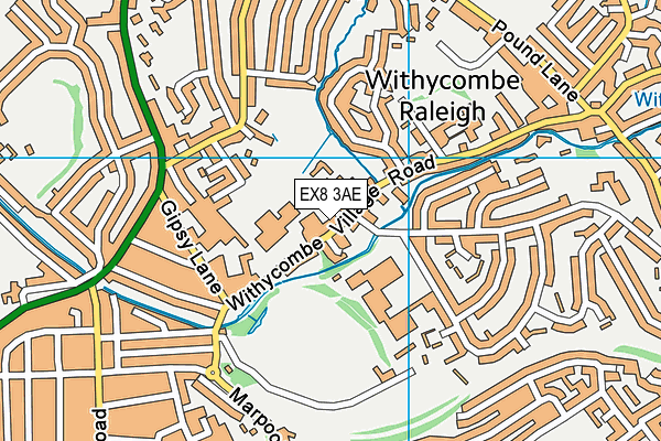 Exmouth Tennis & Fitness Centre map (EX8 3AE) - OS VectorMap District (Ordnance Survey)