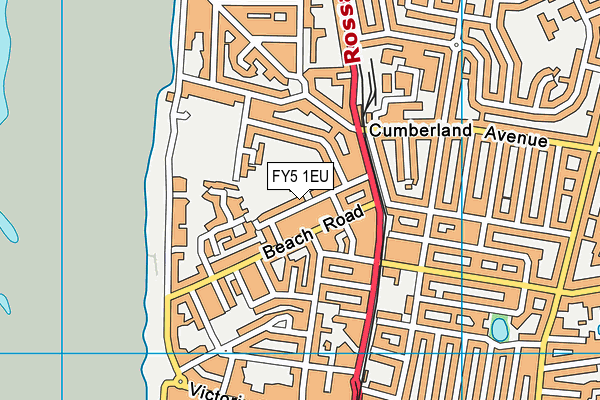 Thornton Cleveleys Manor Beach Primary School map (FY5 1EU) - OS VectorMap District (Ordnance Survey)