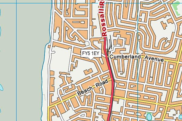 FY5 1EY map - OS VectorMap District (Ordnance Survey)