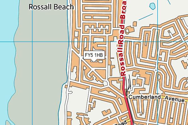 FY5 1HB map - OS VectorMap District (Ordnance Survey)