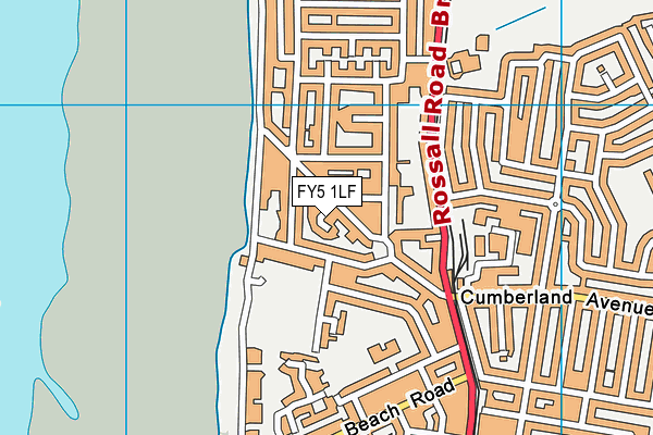 FY5 1LF map - OS VectorMap District (Ordnance Survey)