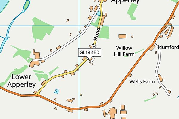 GL19 4ED map - OS VectorMap District (Ordnance Survey)