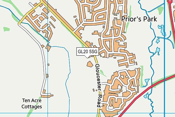 GL20 5SG map - OS VectorMap District (Ordnance Survey)