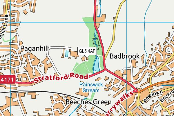 Stratford Park Leisure Centre map (GL5 4AF) - OS VectorMap District (Ordnance Survey)