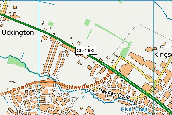 GL51 9SL map - OS VectorMap District (Ordnance Survey)