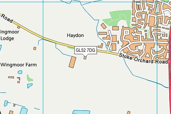 GL52 7DG map - OS VectorMap District (Ordnance Survey)