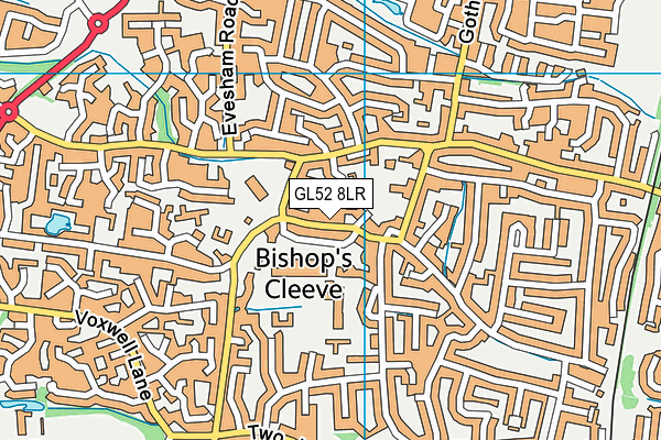 GL52 8LR map - OS VectorMap District (Ordnance Survey)