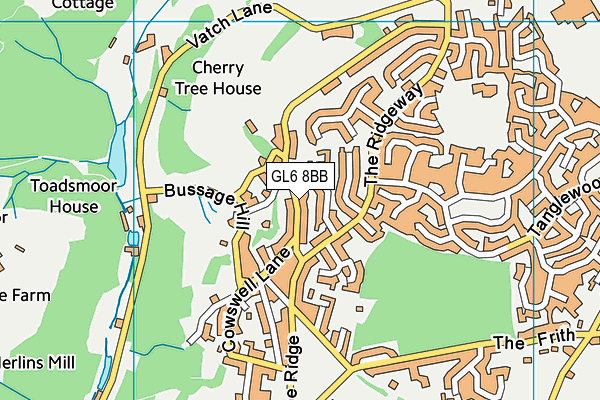 Bussage Playing Ground (Closed) map (GL6 8BB) - OS VectorMap District (Ordnance Survey)