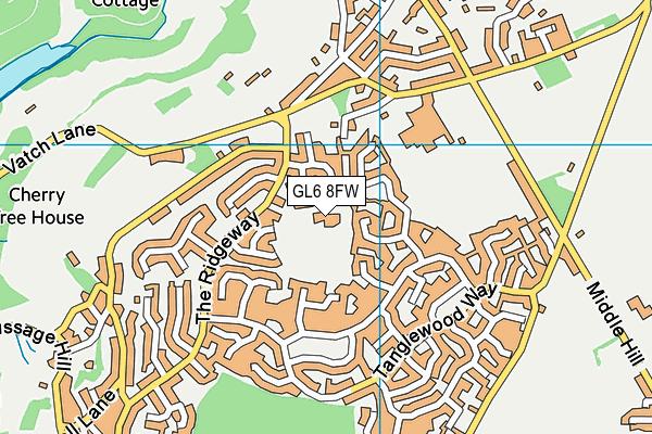 Bussage School map (GL6 8FW) - OS VectorMap District (Ordnance Survey)