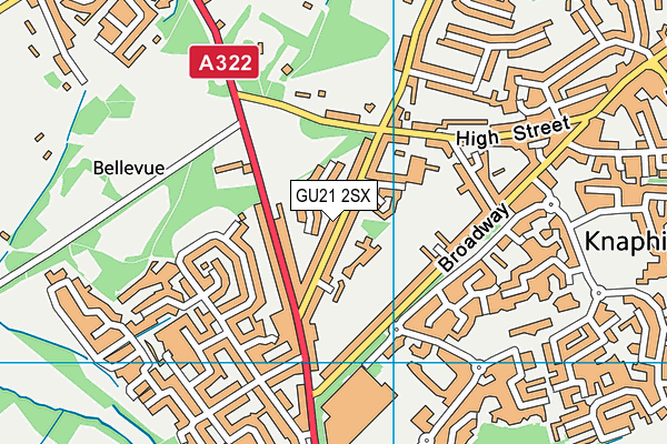 The Knaphill Lower School map (GU21 2SX) - OS VectorMap District (Ordnance Survey)