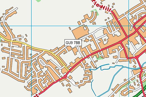 Potters Gate CofE Primary School map (GU9 7BB) - OS VectorMap District (Ordnance Survey)