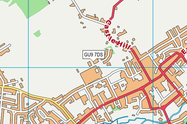 University for the Creative Arts map (GU9 7DS) - OS VectorMap District (Ordnance Survey)