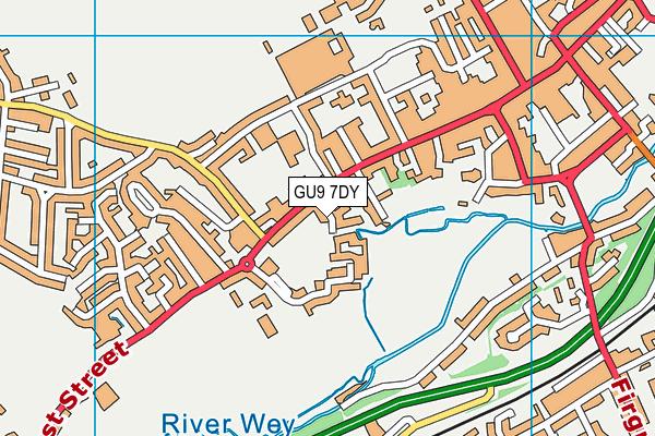 Farnham Town Fc map (GU9 7DY) - OS VectorMap District (Ordnance Survey)