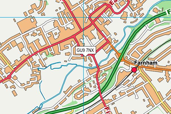 GU9 7NX map - OS VectorMap District (Ordnance Survey)
